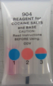 Reagent Test for Cocaine Used by Law Enforcement