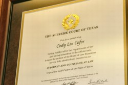 Attorney Cody Cofer - Criminal Charges and Family Law Matters