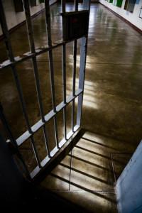 Prison door in TX.