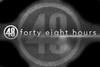 48 Hours on CBS LOGO Grayscale