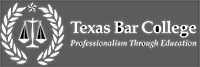 Logo for the Texas Bar College