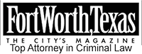 Logo of FW,TX Magazine Top Attorney