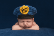 baby cop napping
