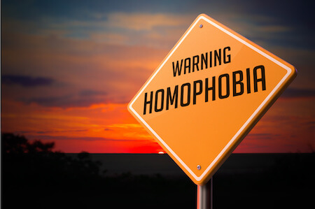 warning sign about homophobia