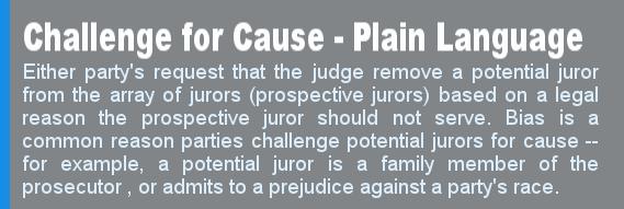 Challenges for Cause in Criminal Cases – Fort Worth Criminal