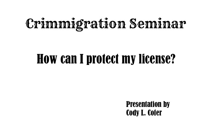 2 Crimmigration Title Slide