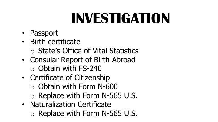 6 Crimmigration Documents of Citizenship