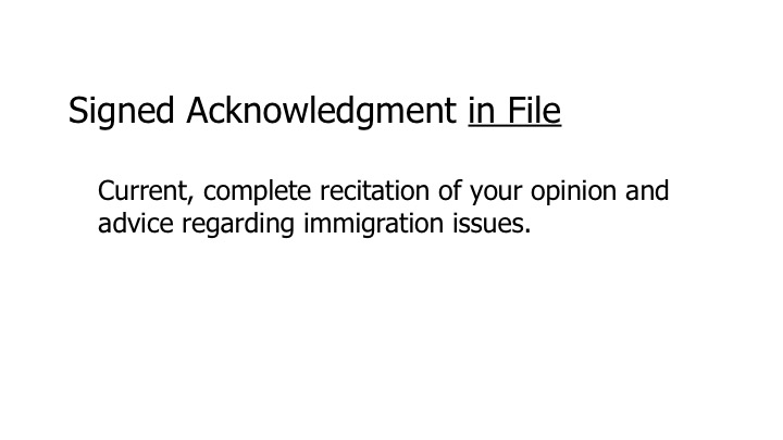 9.9.9.2 Crimmigration Acknowledgment in File