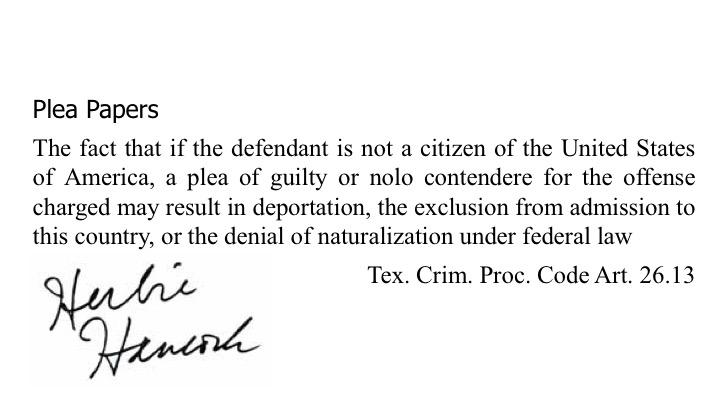 9.9.9.3 Crimmigration Statutory Admonishment